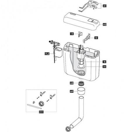 vanne d'écoulement Schwab pour modèle 122.xxxx, complet 243280