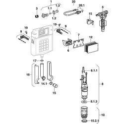 Support de mécanisme pour réservoir WC encastré UP 320 + UP 300