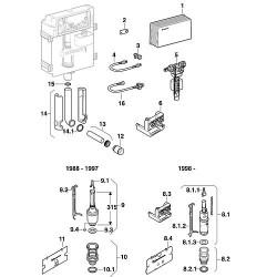 Support inférieur pour mécanisme WC Impuls