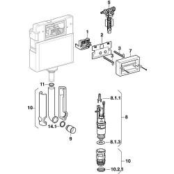 Kit tige d'enclenchement pour plaque de commande 2 quantités