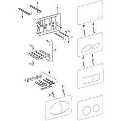 Geberit jeu de rallonge pour plaque de commande Design Ref.Nr.240.938.00.1