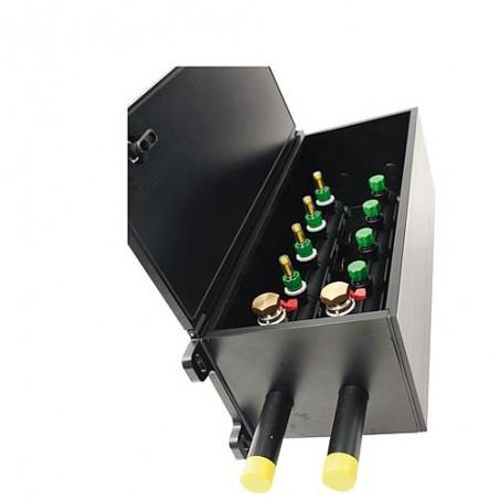 Boite a puits murale pour collecteur avec indicateur de debit 4-20L/m Aller/retour-40/32mm, 8 circuits