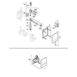 Geberit Transformateur UI 39/9'8/2 ST Prim. 230/22V Ref.-Nr.243.009.00.1