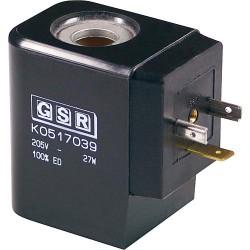 """Bobine de rechange GSR pour 3/4"""" et 1"""" electrovanne A 432_ 1002 702 (BG) 24V 30 Watt redresseur inclus"""