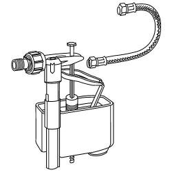 Set vanne de remplissage avec vanne de remplissage, flexible