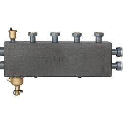 Collecteur de chauffage DN25 , 3+1 circuits avec désemboueur magnétique et purgeur
