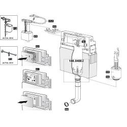 Mécanisme WC Schwab pour modele 182.0400, complet 228578