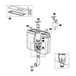 Mecanisme WC Schwab avec joint pour modele 185.xxx
