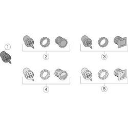 Evolut touche de rechange complète Toutes les séries petites quantités carre brillant