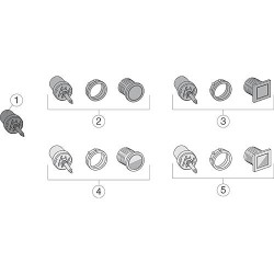 Evolut touche de rechange complète toutes les séries petites quantités carre satine