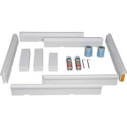 Kit d'installation pour bacs à douche, convient pour les dimensions de 1200 x 700 à 1800 x 900 mm