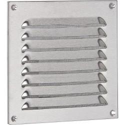 Grille de protection contre les intempéries, en acier inox. 400x400 mm protection anti-insectes, vis et chevilles