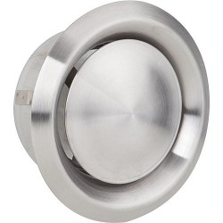 Grille d'aération et d'extraction V2A Raccord diam150. Diam ext 216 valve inox