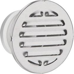 Grille de protection contre les intempéries a embouts. V2A diam 125 L : 100 mm. Diam ext 200 rond