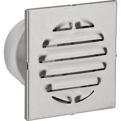 Grille de protection contre les intempéries a embouts. V2A diam 125 L: 100 mm. Mesure ext 200x200 carre
