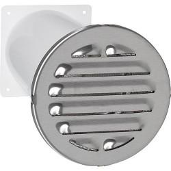 Aérateur a canal télescopique Raccord rond. D 125 mm Grille ext diam : 200 mm V2A rond