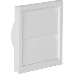 Clapet du ventilateur blanc 100 mm
