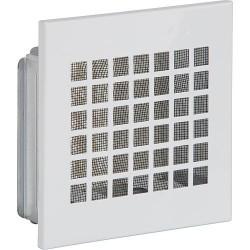 Grille d'aération avec moustiquaire et cadre de montage 150 mm x 150 mm tôle blanc