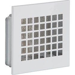 Grille d'aération avec moustiquaire et cadre de montage 400 mm x 400 mm tôle blanc