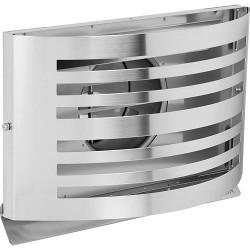 Grille d'aération Alfa 150 blanc RAL 9010 avec clapet isolé inox 304