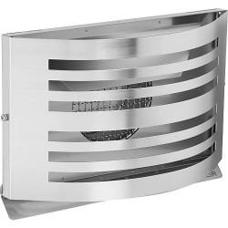 Grille d'aération Alfa HR125 avec moustiquaire 8x8mm inox 304