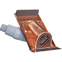 Capot de ventilation en cuivre avec soufflet en plastique Version universelle