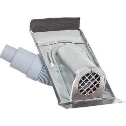 Capot de ventilation en Titan-zinc avec soufflet en plastique Version universelle