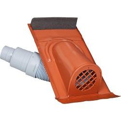 capot d'aération type TON avec flexible PVC, couleur rouge