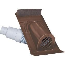 Capot d'aération type Ton avec flexible PVC, couleur marron