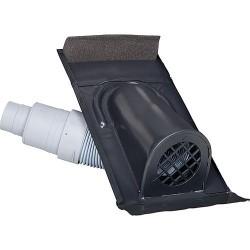 Capot d'aération, type TON avec flexible PVC, noir-gris