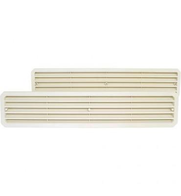 Grille d'aération de porte TGW Paquet SB blanc Dim 452 x 92 mm