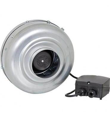 Ventilateur radial tuyaux 200 mm avec console, Type VH200N !! Corps en tôle zingue !!