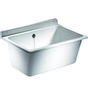 Bac de lavage avec trop-plein en plastique résistant aux chocs, à la température et aux intempéries