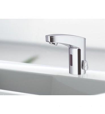 Mitigeur de lavabo Iqua maxx M10, mélangé chromé, sur pile sans vidage