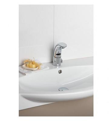Mitigeur de lavabo Conti+IQ A30 sans pression chromé, sur pile sans écoulement