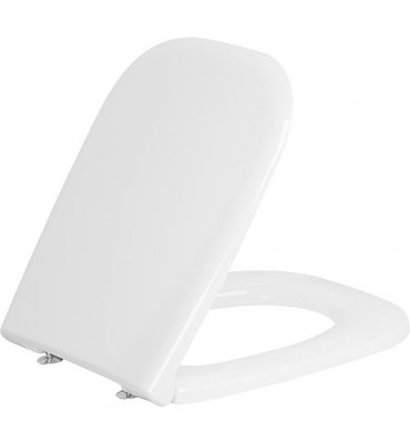 Abattant WC Duravit D-Code avec softclose charniere inox, blanc