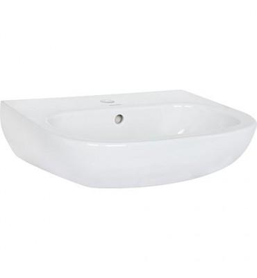 Vasque Duravit D-Code 550 mm avec trop plein, 1 perçage mitigeur blanc