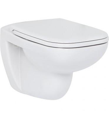 WC suspendu D-Code, sans bord de rinçage