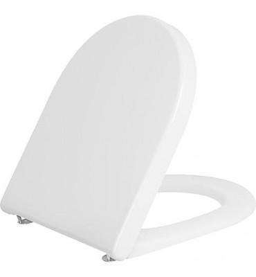 WC abattant Duravit Starck 3 Standard, blanc, avec charnière inox lxhxp: 380x30x383 mm