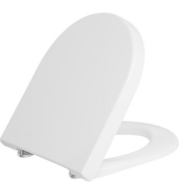 Abattant WC Duravit Starck 3 Softclose, blanc, avec charnière inox lxhxp: 380x30x383 mm