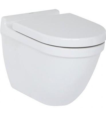WC suspendu à fond creux Compact, avec fixations cachées Starck 3