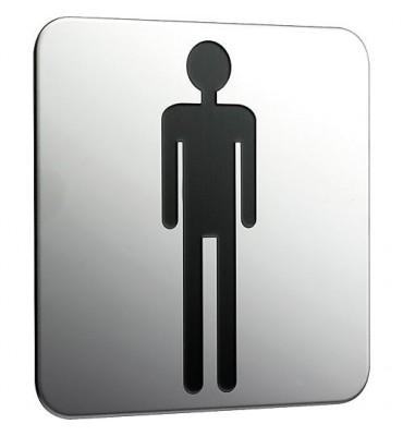 Panneau de porte Emco système 2 chromé, homme a coller