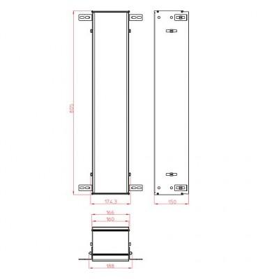 Cadre de montage module Asis, pour module encastrable avec 809/811 mm