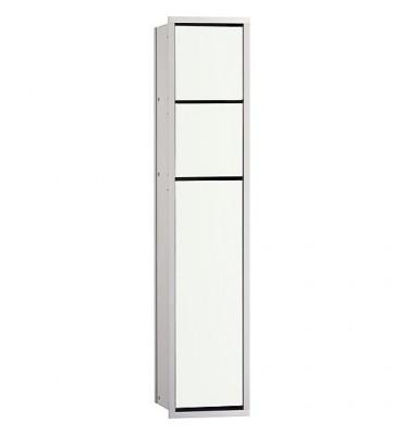 Module de WC Emco Asis 150 encastre, hauteur 809mm alu/blanc