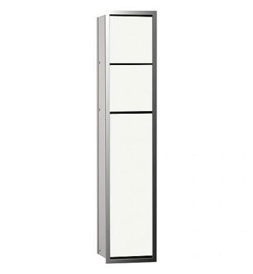 Module de WC Emco Asis 150 encastre, hauteur 809mm chrome/blanc