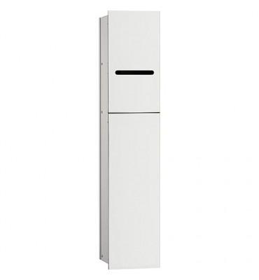 Module WC Emco Asis 2.0 encastre butée gauche, hauteur 811mm blanc