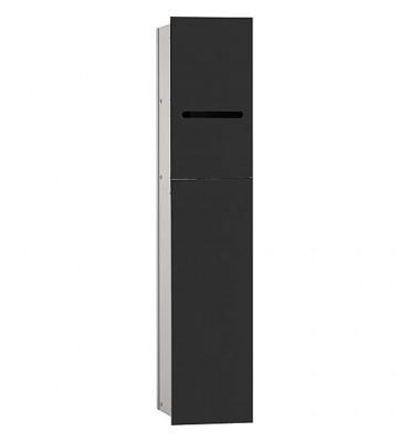 Module de WC Emco Asis 2.0 encastré butée droite, hauteur 811mm noir