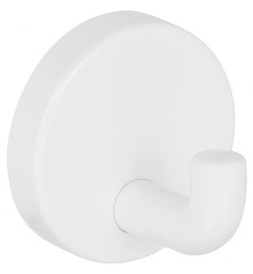 Patères blanc, en nylon, raccord caché, sans fixation d-4mm sans cheville