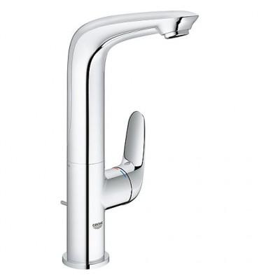 Mitigeur lavabo Grohe Eurostyle, chromé, modèle haut levier plein