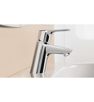 Mitigeur lavabo Focus sans garniture d'écoulement DN 15 Chromé